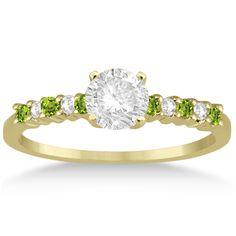 54 Best Peridot Engagement Rings Images On Pinterest Peridot