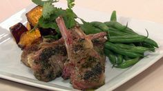 These marinated Mongolian lamb cutlets are beautifully succulent and full of flavour. Serve them with a fresh green salad or grilled vegetables for an easy mid-week meal. Lamb Dinner, Grill Plate, Roast Pumpkin, Dinners, Meals, Grilled Vegetables, Diabetic Friendly, Fresh Green, Garlic