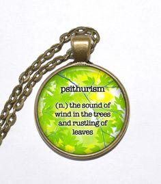 BEAUTIFUL WORDS Necklace, Art Pendant Necklace, Inspirational Necklace, Glass Pendant, Handmade Jewelry