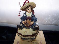 NOS Boyds Bear Yesterdays Child Betsy The Patriot Ornament Figurine