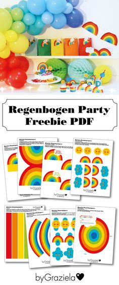 Free template for a colorful rainbow decoration for the birthday. Simply print, stick and you're done! Rainbow Birthday Party, 1st Birthday Girls, Birthday Parties, Rainbow Decorations, Diy Party Decorations, Rainbow Cartoon, Rainbow Activities, Rainbow Quote, Christmas Party Invitations