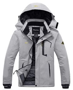 Wantdo Men's Mountain Waterproof Ski Jacket Windproof Rain Jacket Warm Fabric: Professional water repellent coated, fuzzy lining and durable fabric Waterproof: Water-repellent rain jacket can work under over 10000mm pressure head Windproof: Adjustable cuffs, stretchable glove with thumb hole help seal in warmth. Multi Pockets: 2 zippered hand pockets #hiking #jacket #hikingjacket #outdoorjacket #outdoor #camping #waterproof #windproof
