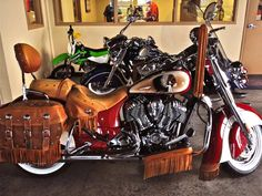 2014 Indian Chief Vintage with custom paint.