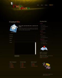 Web-design for Lacier industries.