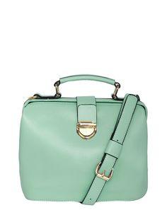 Mint Green Robyn Frame Satchel Bag
