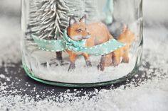 DIY Deko & Geschenkidee - Das Winterwunderland im Glas, ein selbstgemachtes Schneeglas | luzia pimpinella