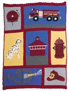 Crochet Commemorative Fire Fighter Throw