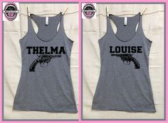 Thelma and Louise GREY Ladies JR.cut tri blend by pinkboxstudio