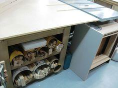 Outfeed Table Storage / Rangement sous la table de sortie