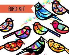 Kids Craft Butterfly and Dragonfly Stained Glass Suncatcher Kit with Birds, Bees, Using Tissue paper, Arts and Crafts Kids Activity, project Easy Arts And Crafts, Arts And Crafts Projects, Arts And Crafts Supplies, Crafts For Kids, Fun Craft, Craft Kits For Kids, Art For Kids, Craft Ideas, Playgroup Activities