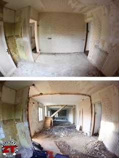 Séjour : on décloisonne, chape, plancher chauffant, béton ciré, ouverture des ouvrants, isolation des murs, escalier, ...