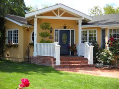 delightful exterior house paint color ideas with yellow wall color ...