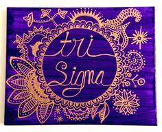 Tri Sigma canvas
