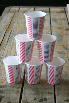 food & femininity: Washi Tape Serving Cups & Kind-Of-Homemade Strawberry Ice Cream for July 4th!