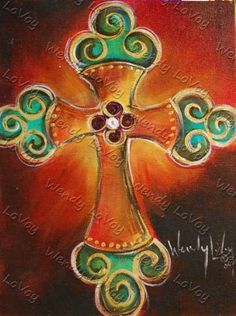 Cross on canvas with acrylic painting. Cross Canvas Paintings, Acrylic Paintings, Diy Canvas, Canvas Art, Canvas Ideas, Wine And Canvas, Cross Art, Prophetic Art, Paint And Sip