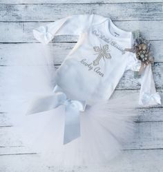 A personal favorite from my Etsy shop https://www.etsy.com/listing/252360452/baptism-or-christening-outfit-baby-girl
