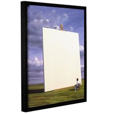 ArtWall 'Jerry Lofaro's Creative Problems' Gallery Wrapped Floater-framed (14x18)