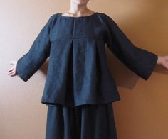 pure linen kimono dolly top custom order listing. $118.00, via Etsy.
