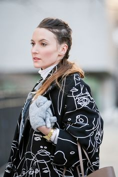 Beauty Street Stalking: Fashion Week Edition #refinery29  http://www.refinery29.com/2015/02/82619/best-beauty-nyfw-2015-street-style-pictures#slide-21  This braided ponytail hybrid is just too rad.