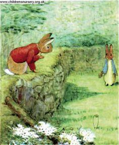 Beatrix Potter online book - the tale of mr tod Beatrix Potter Illustrations, Young Rabbit, Beatrice Potter, Peter Rabbit And Friends, Benjamin Bunny, Children's Literature, Book Illustration, Childrens Books, Illustrators