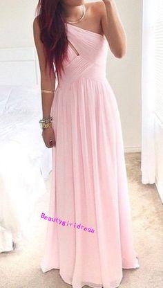 Bg397 New Arrival Chiffon Prom Dress,Pink Prom Dress,Long