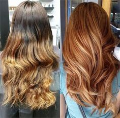 Box To Ombre To Pretty Apricot Sombre - Career - Modern Salon