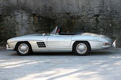 A 1957 Mercedes Benz 300 SL Roadster.