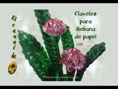 Claveles para ikebana de papel - Paper carnations for ikebana - YouTube