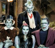 Happy New Year from The Munsters Munsters Tv Show, The Munsters, Gothic Culture, Pop Culture, Herman Munster, Black Sheep Of The Family, Lily Munster, Yvonne De Carlo, Female Vampire