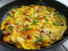 A Squared: Skillet Ravioli with Bacon & Roasted Bell Peppers