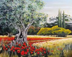 Un coin des alpilles #tourismepaca #provence #landscapes #painting #peinture #alpilles Landscape Art, Landscape Paintings, Oil Paintings, Provence, Z Arts, Olive Tree, Magnolia, Photos, France