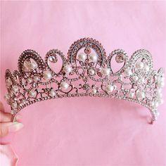HG240 Bridal pearl Tiara, Women Crown Wedding Accessory Bridal Jewelry Prom Party, tiara noiva wedding hair accessories-in Hair Jewelry from Jewelry on Aliexpress.com | Alibaba Group