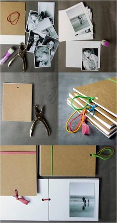 DIY scrapbook (easy - good for gifts).