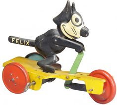 J. Chein & Co. Felix Scooter Tin wind-up Toy Learn about your collectibles, antiques, valuables, and vintage items from licensed appraisers, auctioneers, and experts. http://www.bluevaultsecure.com/roadshow-events.php