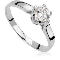 Pierścionek zaręczynowy z diamentem z białego złota P0214BB Models, Engagement Rings, Jewelry, Fashion, Templates, Enagement Rings, Moda, Wedding Rings, Jewlery