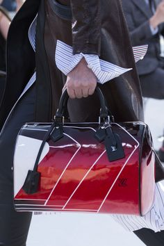 A closer look at a bag from the Louis Vuitton Cruise 2018 Fashion Show by Nicolas Ghesquière, presented at the Miho Museum near Kyoto, Japan