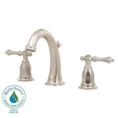 Kelston 8 in. Widespread 2-Handle Low-Arc Bathroom Faucet in Vibrant Brushed Nickel-K-13491-4-BN at The Home Depot