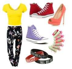 I couldn't choose just one shoe! by williamskaitlyn-kw on Polyvore featuring polyvore fashion style Converse Dorothy Perkins