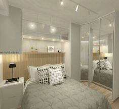 Boa noite! Quarto lindo e funcional, para ambientes pequenos todos os espaços devem ser aproveitados! 😍