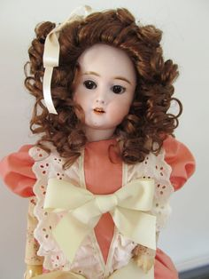 Coral Dress for Antique Doll 20-22 by CottageDesignsbyErin on Etsy