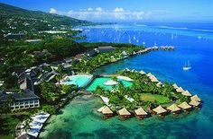 InterContinental Resort Tahiti - Faa'a, French Polynesia >> Must visit some day!