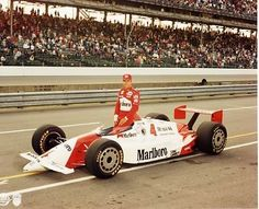 "1992 - Rick Mears' (#4) ""Marlboro"" Penske/Chevrolet - Qualified 9th, Speed 224.594 mph - Finished 26th, Crashed Turn 1 on Lap 74"