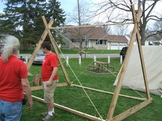 Viking Tent Frame.   I never used the ropes in mine but I think it is a wise choice to use them