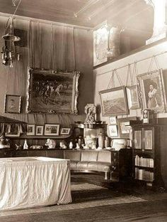 The New Study at the Alexander Palace at the time of reign of Tsar Nicholas ll of Russia.A♥W