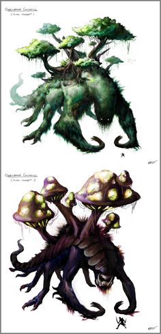 Overgrown Colossus Concept Art by =arvalis on deviantART