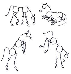 How to draw a horse. This method shows the proportions of the head vs body vs hooves. Other methods show how to do the details, but with these basics, you can draw most any position.