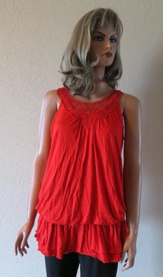 $5 clearance! COWGIRL RED TANK TOP FLIRTY SHIRT SEXY SUMMER NWT SIZE SMALL #Jody #TankTop