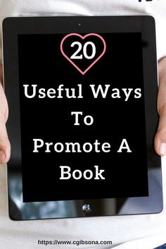 Now that you've written your book, it's time to start thinking about promoting. Here, I have a list of 20 ways to promote and market your newly written book.  1. Facebook fan page:  Using a Facebook fan page or business page you can make a author page, post your book …