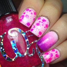 "Wicked Polish ""Fairy Blood Spatter"" http://www.polishandpandas.com/2014/02/wicked-polish-swatch-spam.html"