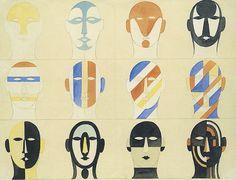 oskar1 Visual Diary, Bauhaus Design, Bauhaus Logo, Design Art, Graphic Design, Mask Design, Collage, Postmodernism, Costume Design
